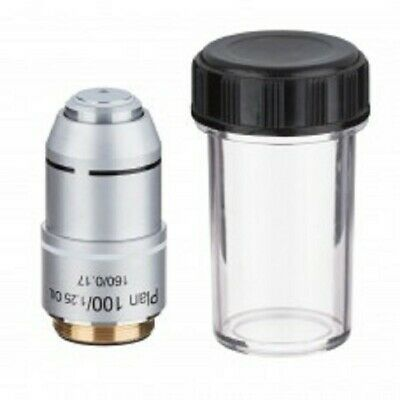 100X  Objective Lens Oil Plan Achromatic Compound Microscope 160mm