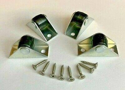 Pack of 16pcs 14mm Small fixed castors low level caster wheels
