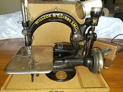 Antique Willcox & Gibbs Chain Stitch Sewing Machine,  Electric Foot Pedal