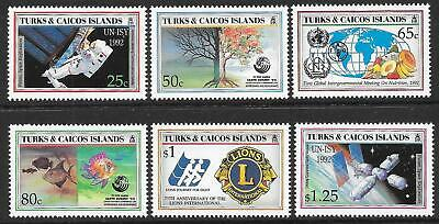 TURKS & CAICOS IS: 1993 EVENTS set of 6, MNH