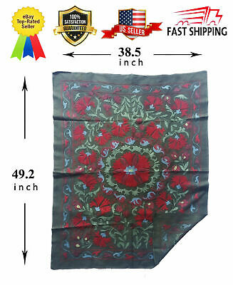 Vintage Uzbek Beautiful Hand Embroidery Wall Decor Gift Suzani SALE WAS $250.00
