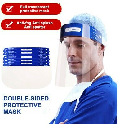 New Safety Face Shield Protection Cover Guard Reusable Transparent Anti-Fog