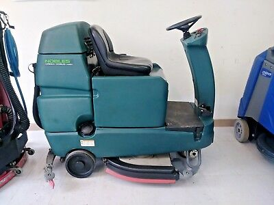"Tennant/Nobles Speed Scrub Rider 32"" Floor Scrubber New 235 AH Batteries"