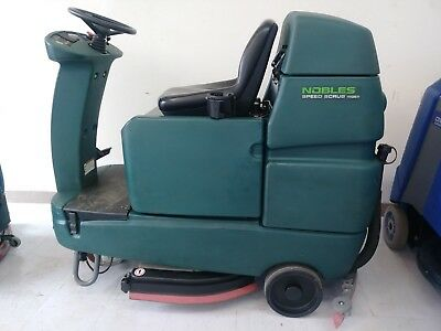 "Tennant Nobles Speed Scrub Rider 32"" Floor Scrubber New 305 AH Batteries"