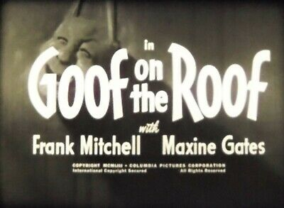16mm THREE STOOGES:  GOOF ON THE ROOF (1953) w/Shemp!  Television!  Bucket!