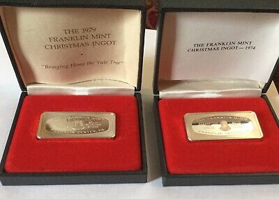 The Franklin Mint  Solid Sterling Silver Bars total of 1500 Grains