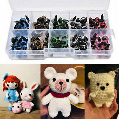 100pcs Plastic Safety Toy Screw Eyes Kit for Teddy Bear Doll Animal Making 10mm