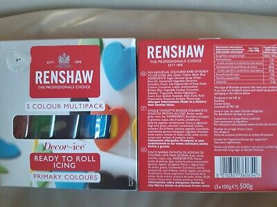 Renshaw Ready To Roll Icing 5 Colour Multi Pack