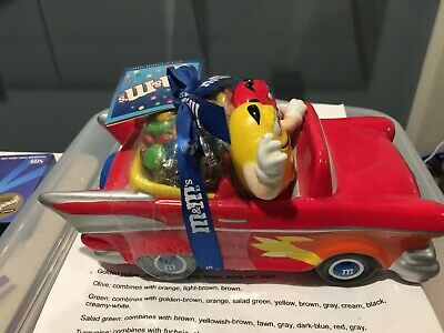 M&M Candy Ceramic Red Candy Dish Car M&Ms--NEW WITH TAGS