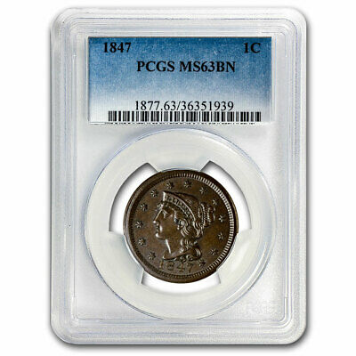 1847 Large Cent MS-63 PCGS (Brown) - SKU#212437