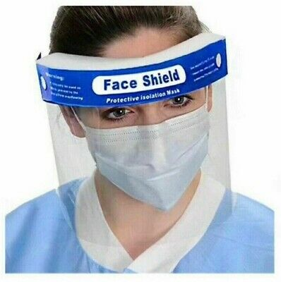[2 Pack] Safety Full Reusable Face Shield Guard Head Band Elastic