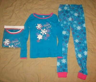 The Children's Place Girls Size 8 Pajamas Snow Day 2 Pairs Top shirt pants NEW