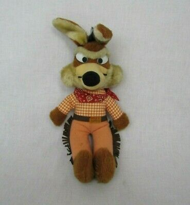 """Vintage 1971 Warner Bros Looney Tunes Wile E Coyote Plush 18""""  Mighty Star"""