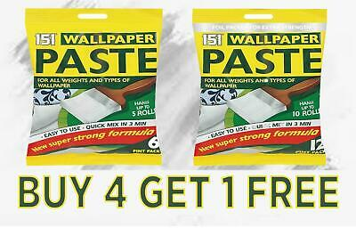 Wallpaper Paste Multipack All Purpose Adhesive Super Strong Stick Wall Paste