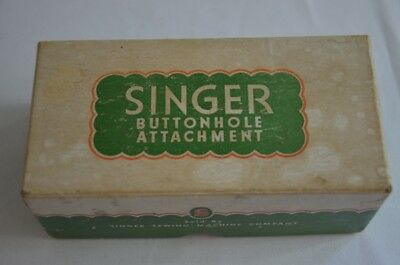 Vintage Singer Lock Stitch Sewing Machine Buttonhole Attachment 121795 with Box