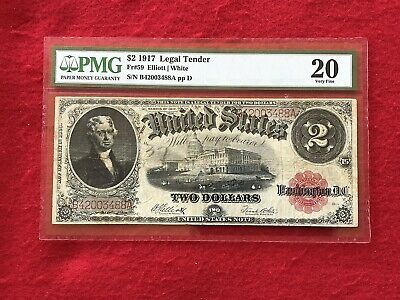 FR-59 1917 Series $2 United States Legal Tender Note *PMG 20 Very Fine*