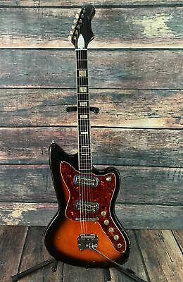 Used Harmony 1966 H-19 Silhouette Offset Electric Guitar with Case