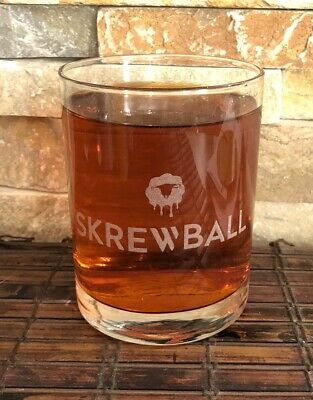SKREWBALL PEANUT BUTTER Collectible Whiskey Glass