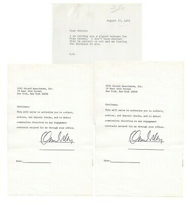 ORSON WELLES. Actor, Writer, Director, Producer.  2 TLsS + related letter