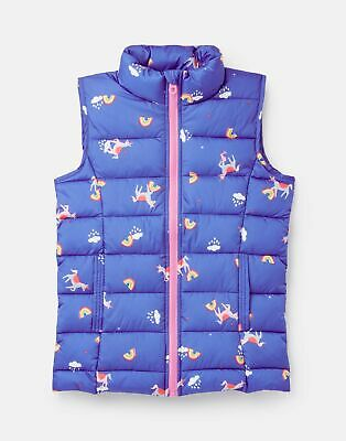 Joules 210367 Quilted ‪Gilet - BLUE UNICORN CLOUDS