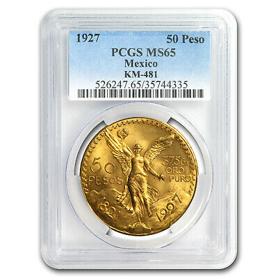 1927 Mexico Gold 50 Pesos MS-65 PCGS - SKU#171407