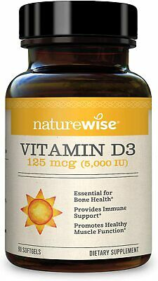 NatureWise Vitamin D3 5,000 IU (3 Month Supply) for Healthy Muscle Function, Bon
