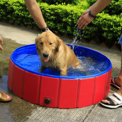 Portable Pet Bath Dog Swimming Pool Foldable Bath Paddling Pool Puppy Bathtub UK