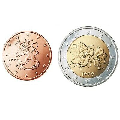 complete Finland UNC set 2019 coin set 5 cent + 2 euro coin