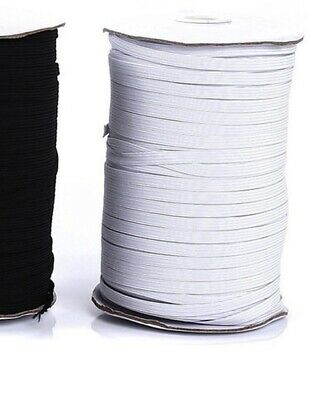 "10 yards 1/4"" Elastic For Face Mask white 1/4 inch elastic cord band for sewing"