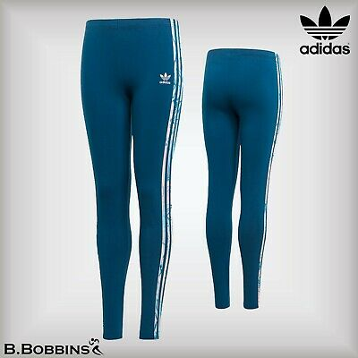 🔥 Adidas Originals Girls 3S Marble Leggings Age 11-12-13-14-15 Years DW9164