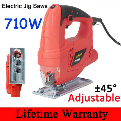 710W Electric Laser Guide Jigsaw Variable Speed Cutting Pendulum Actn Heavy Duty