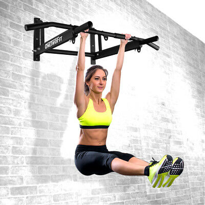 OTF Heavy Duty Chin Pull Up Wall Mount Bar Exercise Fitness Gym Home Mounted