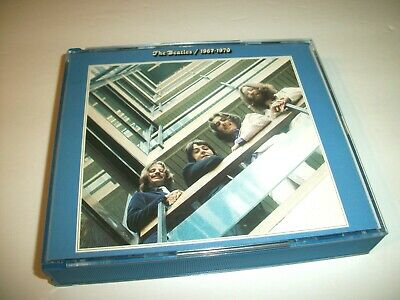 The Beatles 1967-1970 CD Set (2-Discs, Apple, 1993) See Pics Play Perfectly!
