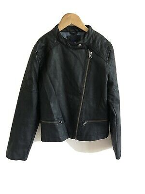 Girls Gap Leather Look Biker Jacket Aged 10-11