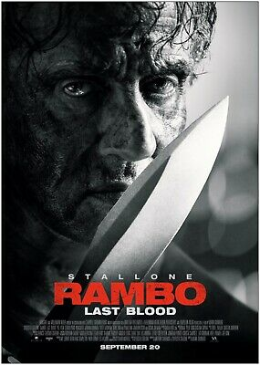 RAMBO LAST BLOOD BB1 SYLVESTER STALLONE POSTER A4 A3 SIZE BUY 2 GET ANY 2 FREE