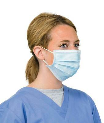 Face Mask Blue / Mouth Protector Masks One Size 10 in Pack