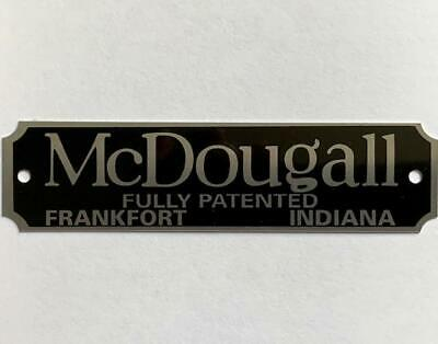 Silver McDougall Nameplate Cabinet Hoosier Sellers Antique Vintage Label Decal