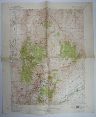 Virginia City NV USGS Topographical Map Storey County Comstock Lode Vintage 1955
