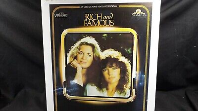 Sealed CED Videodisc of Rich and Famous Cert 18 PAL/UK