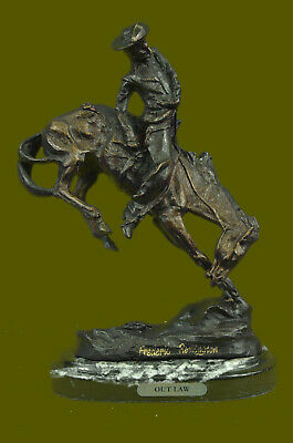 Solid Bronze Collectible Sculpture Statue by F. Remington Regular Figurine DEAL