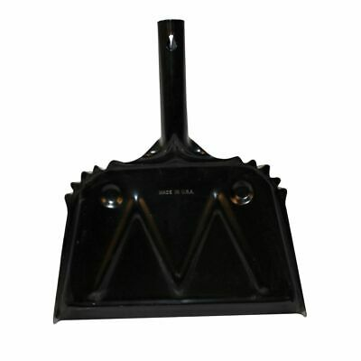 "Impact 12""x14"" Black Metal Dust Pan"