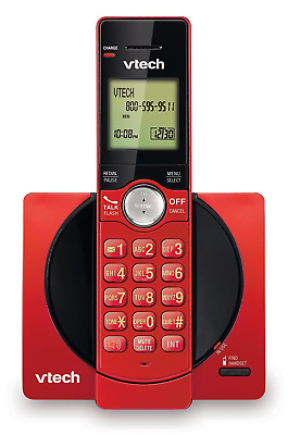 Vetech Cordless Phone System With Caller Id / Call Waiting Model#Cs6919-16 Red