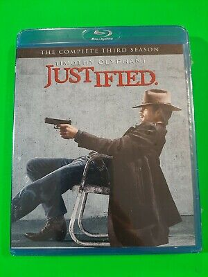 Justified - The Complete Season 3 (Blu-Ray) (Boxset) (Blu-Ray) (Factory Sealed)