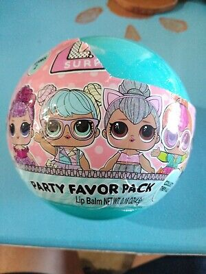 LOL Surprise Ball Party Favor Pack 1 Count Includes Sticker Necklace Lip Balm