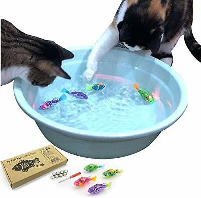 BlackHole Litter Mat Interactive Swimming Robot Fish Toy for Cat with LED Light