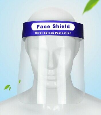 Face shields (200) pcs USA NJ safety clear protective  FDA and CE approved