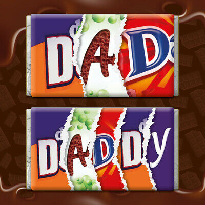 Daddy - Chocolate Bar Wrapper Novelty Joke Funny Gift Birthday Fathers Day