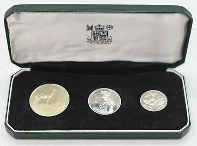 1964 Bank of Zambia 3-Coin Proof Set & Royal Mint Case - BH784