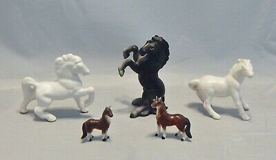 Lot of 5 Ceramic Horses Figurines
