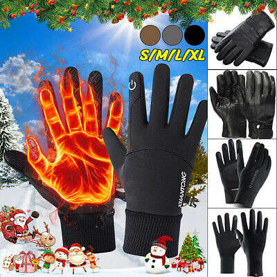 Men Women Winter Warm Gloves  Waterproof Thermal Touch Screen Sports Mittens